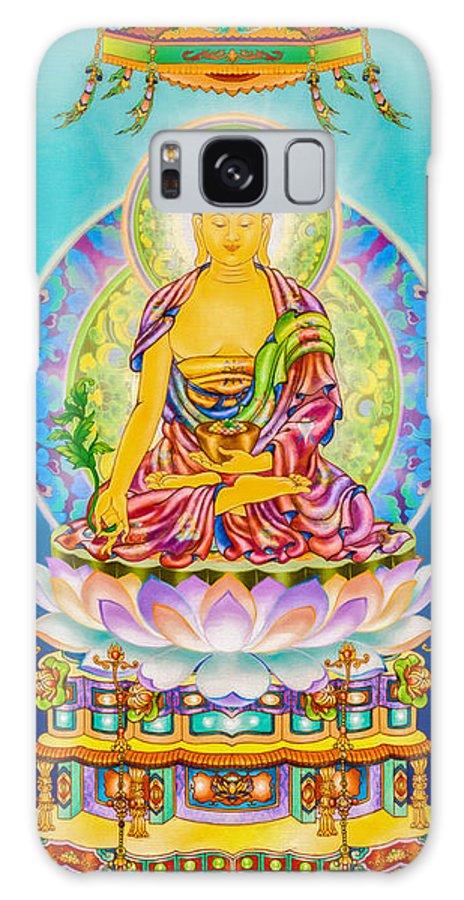 The Pharmacist Glass Light Tathagata Galaxy S8 Case featuring the photograph Medicine Buddha 7 by Jeelan Clark