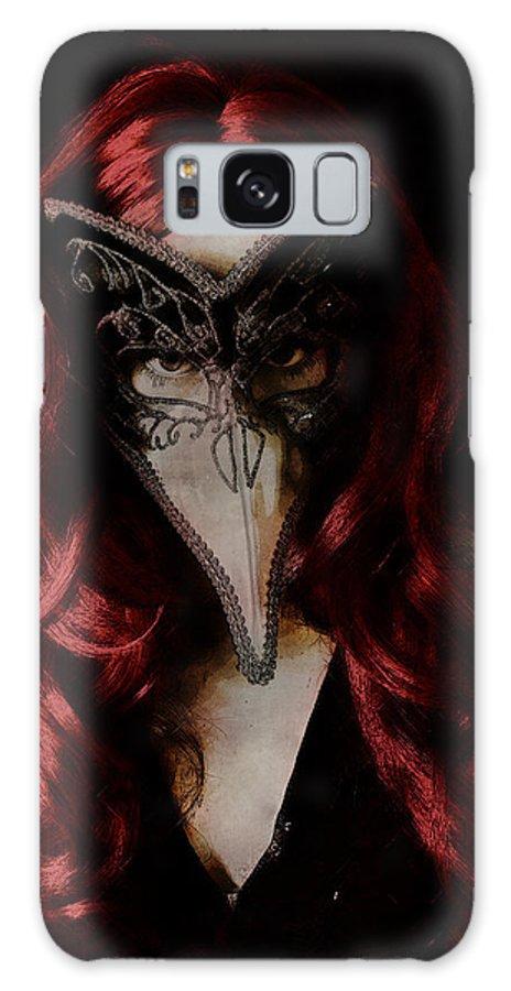 Mask Galaxy S8 Case featuring the digital art Medico Della Peste by Galen Valle