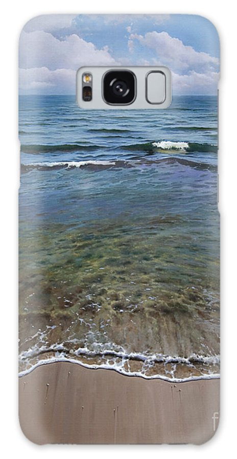 Sea Galaxy S8 Case featuring the painting Mediterraneo by Jose Higuera