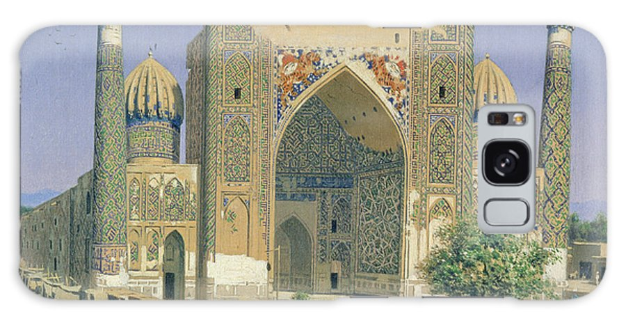 Medrese Galaxy S8 Case featuring the photograph Medrasah Shir-dhor At Registan Place In Samarkand, 1869-70 Oil On Canvas by Vasili Vasilievich Vereshchagin
