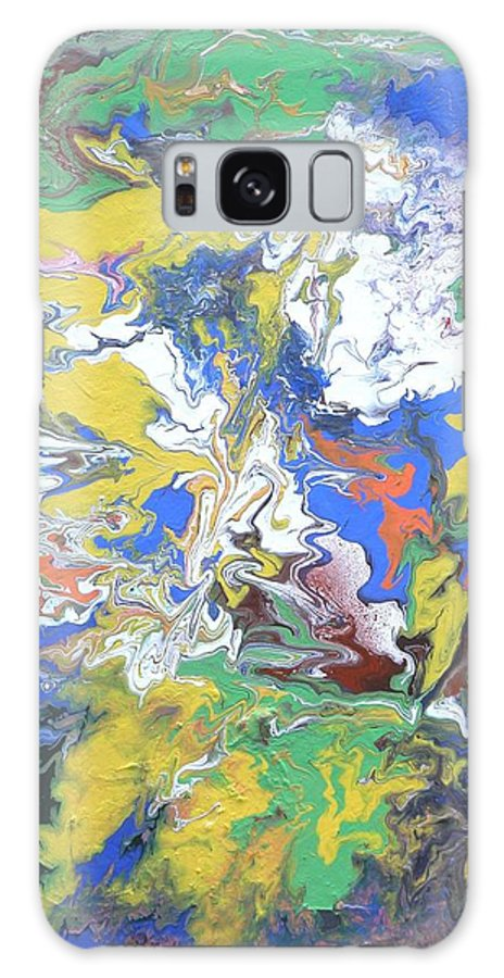 Landscape Galaxy S8 Case featuring the painting Meeting Of The Clouds by Ed Ciolina