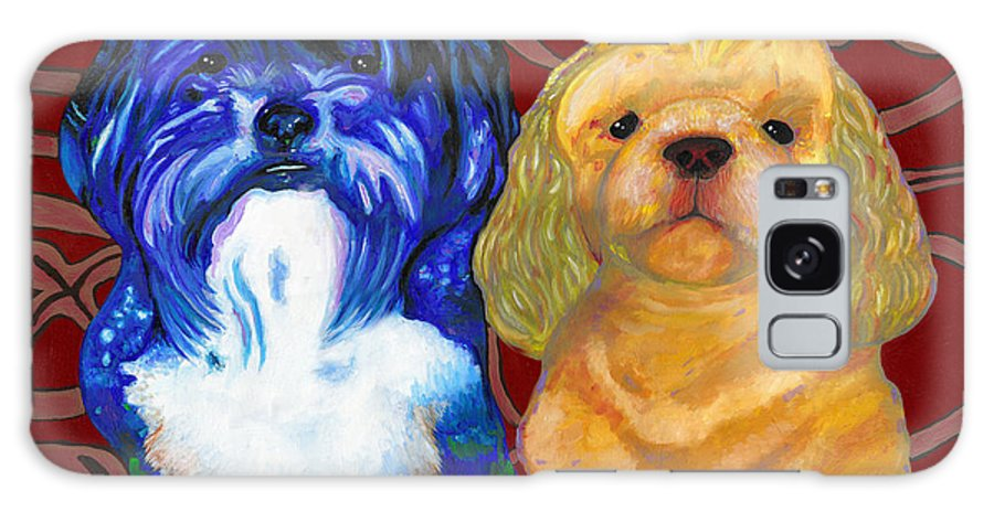 Dog Galaxy S8 Case featuring the painting Mei-mei And Honeybear by Bronwen Skye