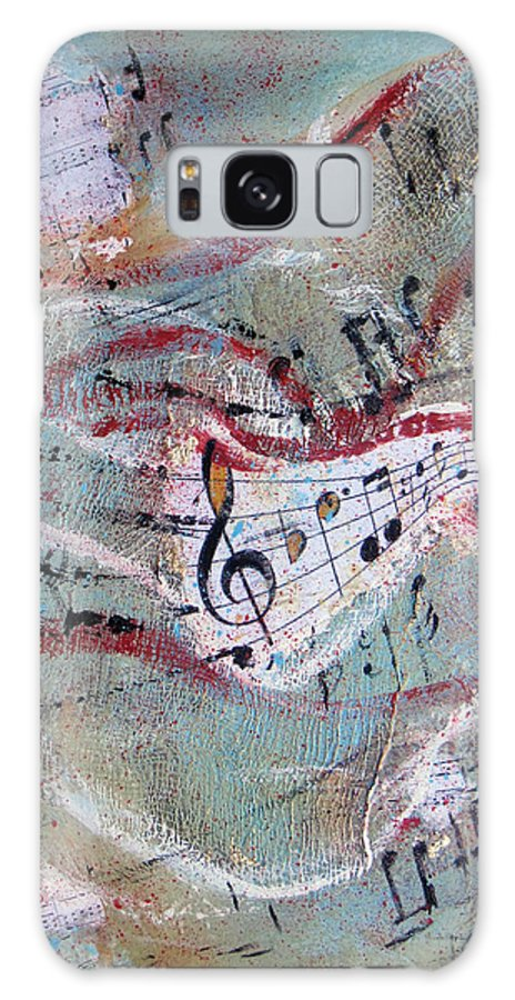 Musical Sheets Galaxy S8 Case featuring the painting Melody by Mona Mansour Jandali
