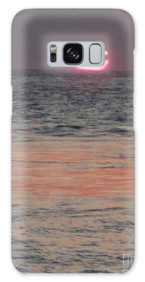 Photography Galaxy S8 Case featuring the photograph Melting Sun Into The Cool Sea by Eric Schiabor
