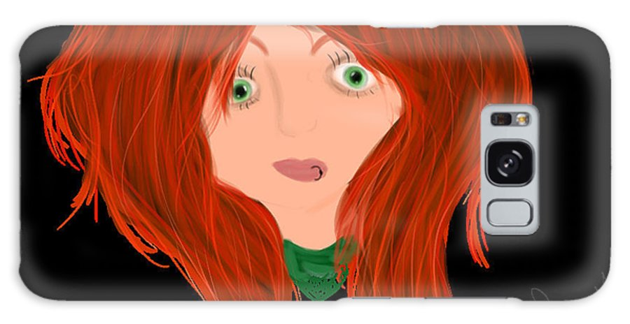 Girl Galaxy S8 Case featuring the digital art Meridith by Savanna H