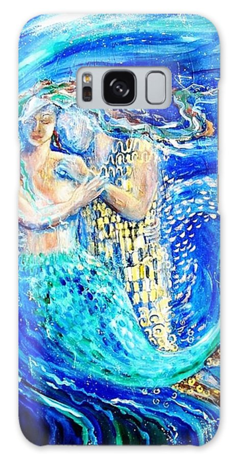Mermaid Galaxy S8 Case featuring the painting Mermaid Dreamer by Trudi Doyle