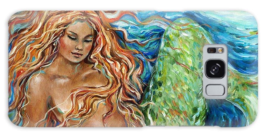 Mermaid Galaxy S8 Case featuring the painting Mermaid Sleep New by Linda Olsen