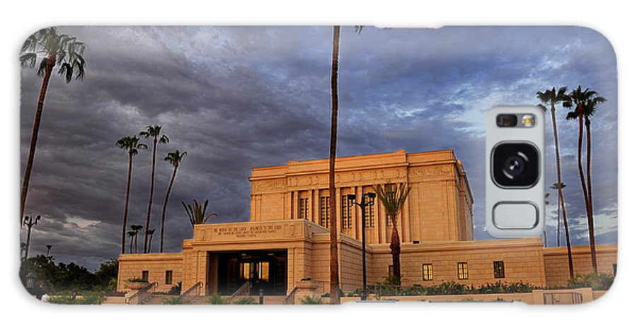 Lds Temple Galaxy S8 Case featuring the photograph Mesa Lds Temple by Natalie Brokaw