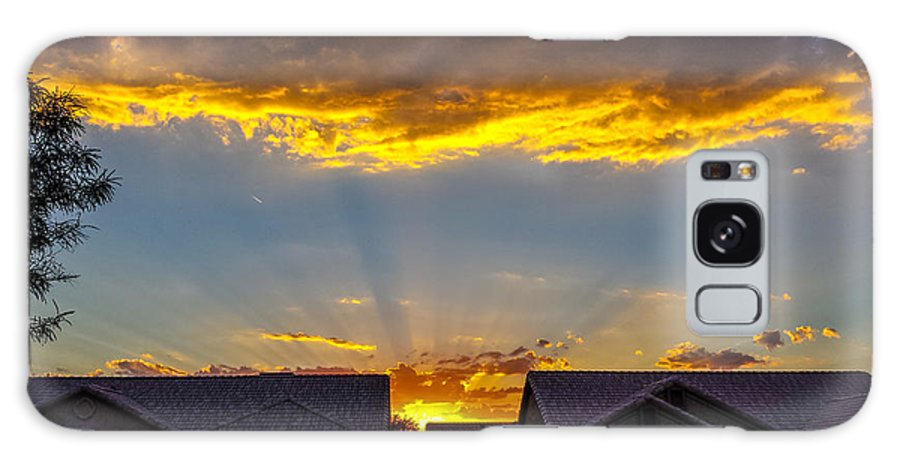 Galaxy S8 Case featuring the photograph Mesa Sunset by Rick Martin