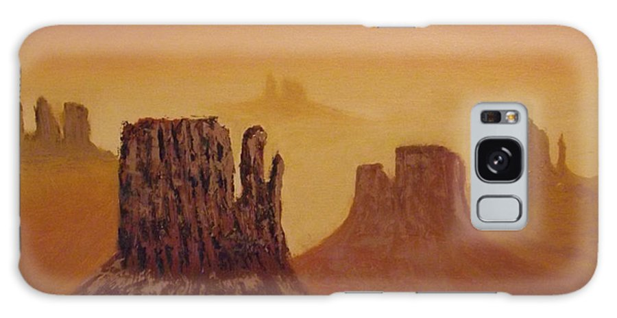 Mesa Galaxy S8 Case featuring the painting Mesas by Tim Longwell