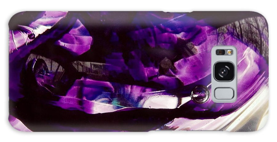 Glass Galaxy S8 Case featuring the photograph Mesmerize Purple by Angela Rath