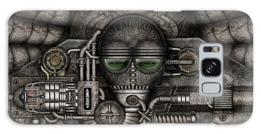 Arte Galaxy S8 Case featuring the digital art Metal Mask by Ivan Pawluk