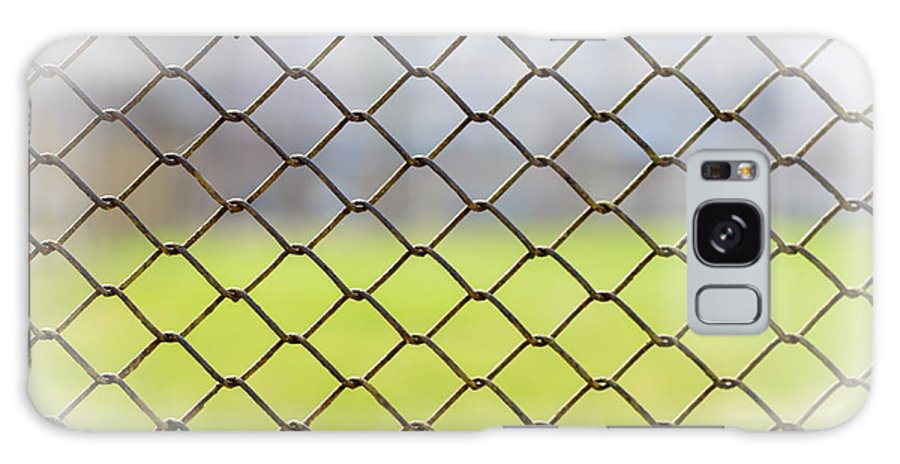 Chain Galaxy S8 Case featuring the photograph Metallic Wire Fence by Alain De Maximy
