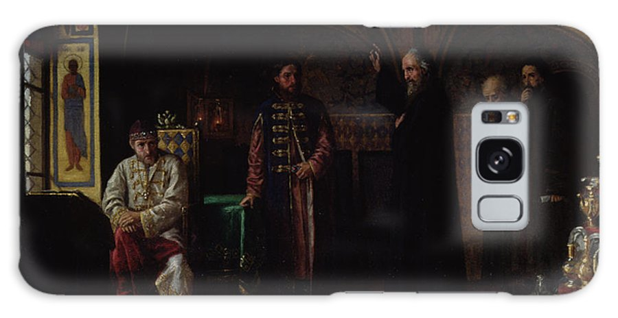 Interior Galaxy S8 Case featuring the photograph Metropolitan Philip Of Moscow 1507-90 With Tsar Ivan The Terrible 1530-84 Oil On Canvas by Jakov Prokopyevich Turlygin