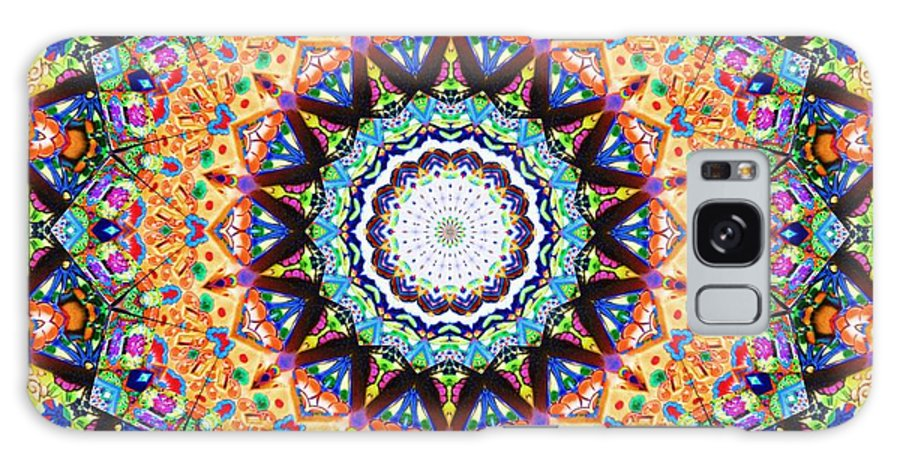 Kaleidoscopes Galaxy S8 Case featuring the digital art Mexican Ceramic Kaleidoscope by Alec Drake