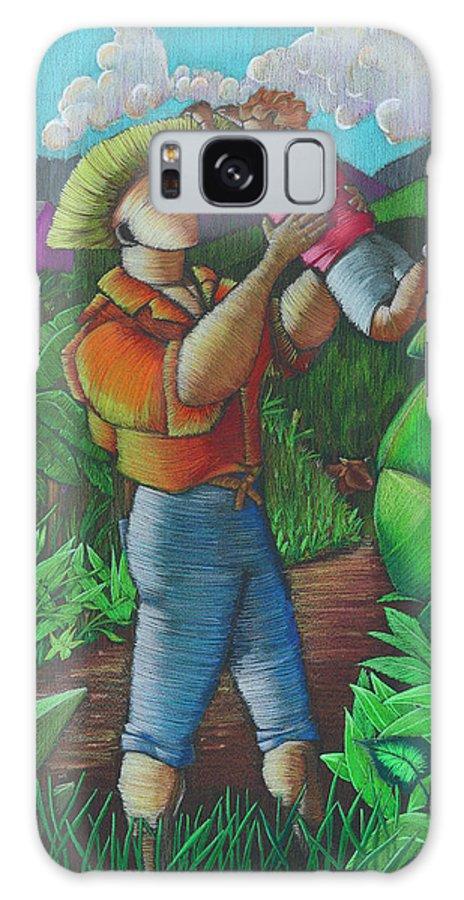 Puerto Rico Galaxy Case featuring the painting Mi futuro y mi tierra by Oscar Ortiz