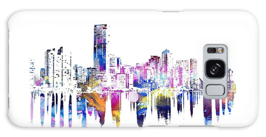 United States Galaxy S8 Case featuring the painting Miami Skyline by Doc Braham