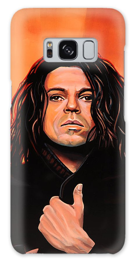 Michael Hutchence Galaxy S8 Case featuring the painting Michael Hutchence Painting by Paul Meijering