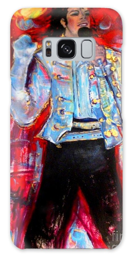 Michael Jackson Galaxy S8 Case featuring the painting Michael Jackson I'll Be There by Helena Bebirian