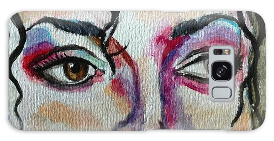 Michael Galaxy S8 Case featuring the painting Michael Jackson by Shelby Rawlusyk