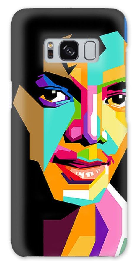 Digital Art Galaxy S8 Case featuring the digital art Michael Jackson Young by Ahmad Nusyirwan