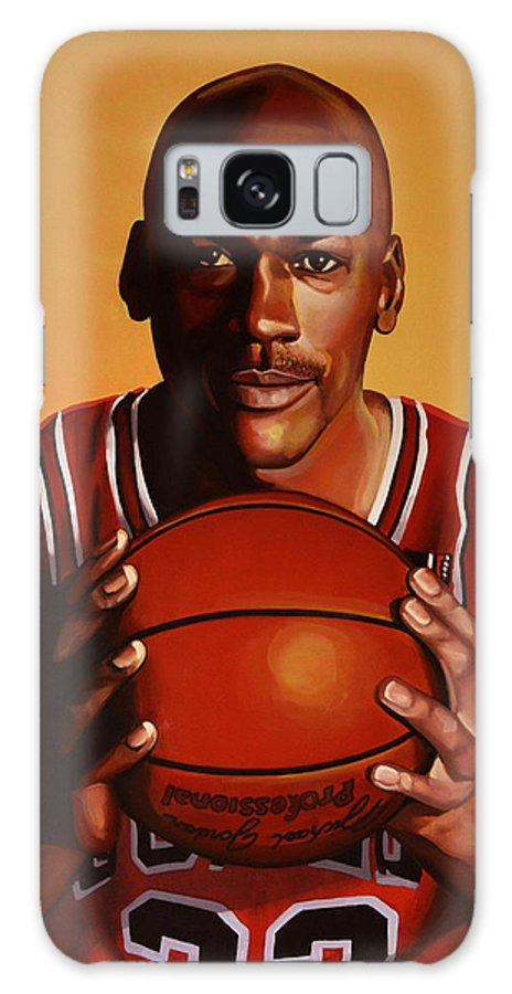 Michael Jordan Galaxy S8 Case featuring the painting Michael Jordan 2 by Paul Meijering