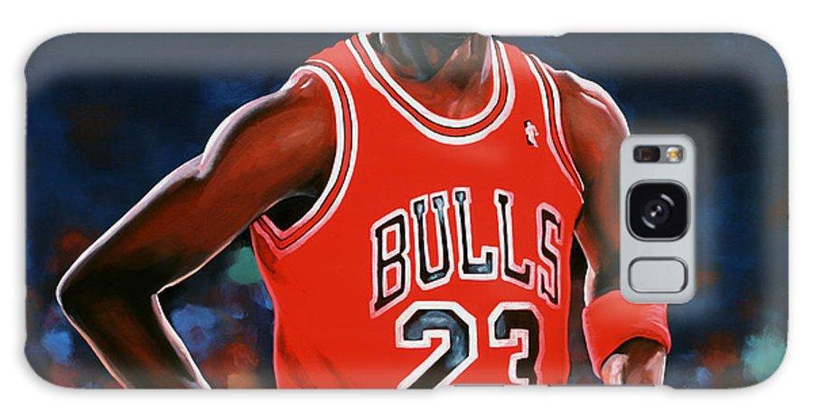 Michael Jordan Galaxy S8 Case featuring the painting Michael Jordan by Paul Meijering