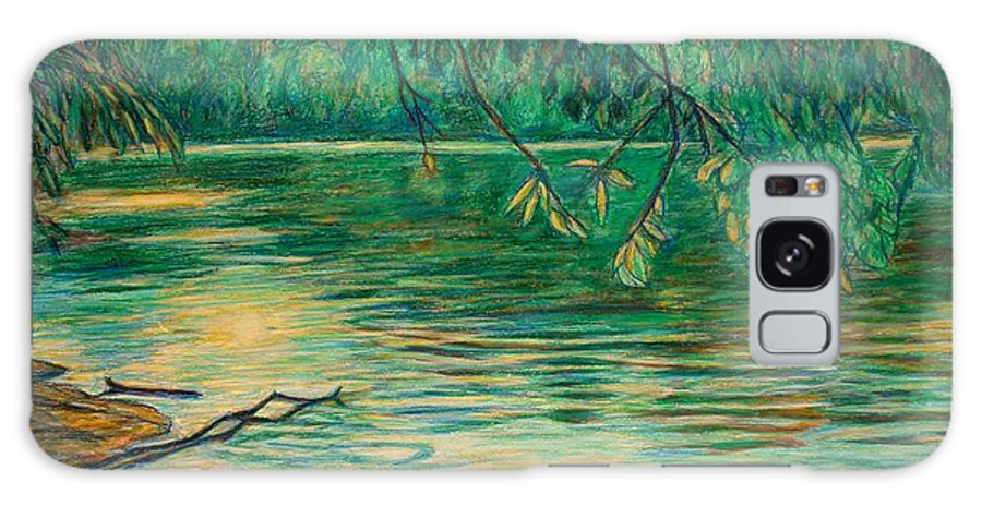 Landscape Galaxy Case featuring the painting Mid-spring On The New River by Kendall Kessler