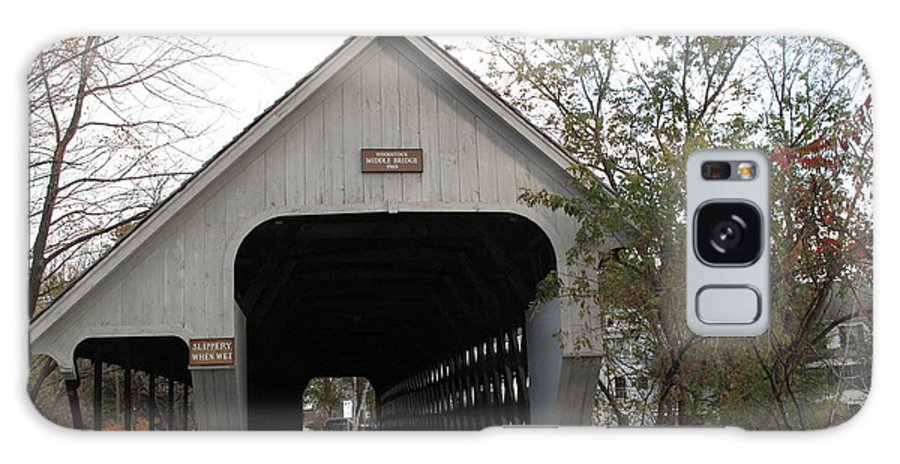 Covered Bridge Galaxy S8 Case featuring the photograph Middle Bridge Back Woodstock Vermont by Barbara McDevitt