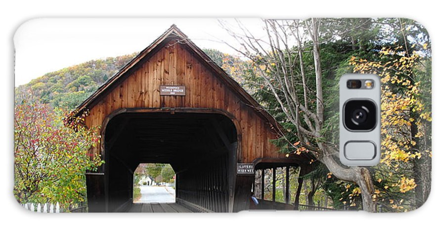 Covered Bridge Galaxy S8 Case featuring the photograph Middle Bridge Front Woodstock Vermont by Barbara McDevitt