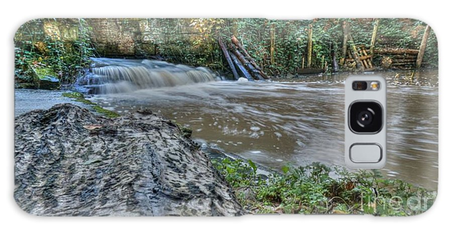 Autumn Galaxy S8 Case featuring the photograph Middleton Hall Waterfall by Mickey At Rawshutterbug