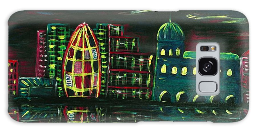 Malakhova Galaxy S8 Case featuring the painting Midnight City by Anastasiya Malakhova