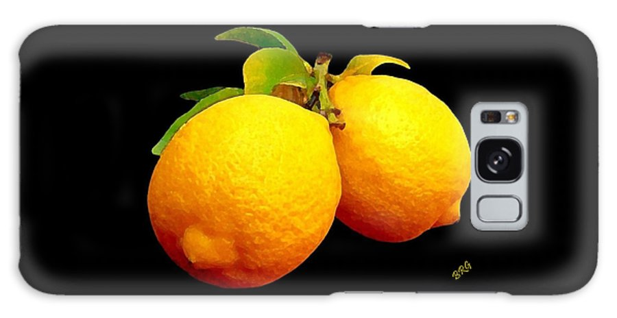 Fruit Galaxy S8 Case featuring the photograph Midnight Lemons by Ben and Raisa Gertsberg
