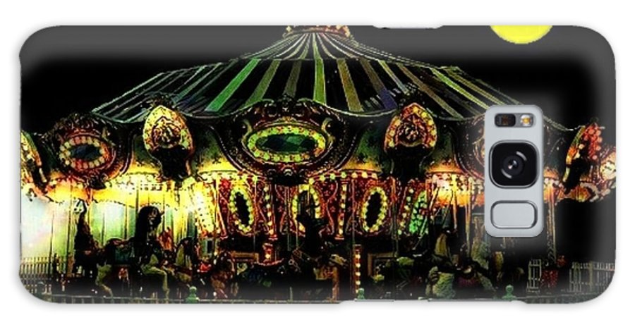 Carousel Galaxy S8 Case featuring the photograph Midnight Midway by Ellen Cannon