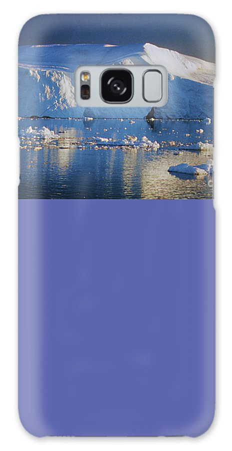 Greenland Galaxy S8 Case featuring the photograph midnight sun with moon in Greenland by Rudi Prott