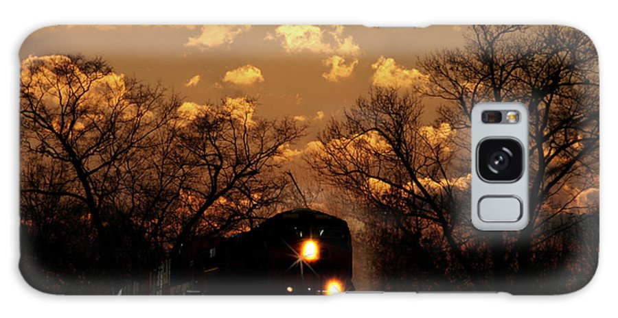 Train Galaxy S8 Case featuring the photograph Midnight Train Ride by TnBackroadsPhotos