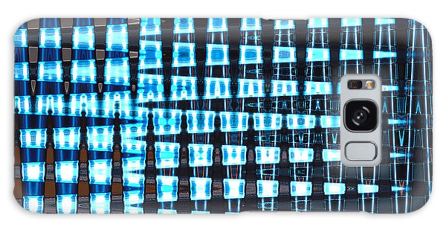 Mighty Lab Galaxy Case featuring the mixed media Mighty Lab by Pharris Art