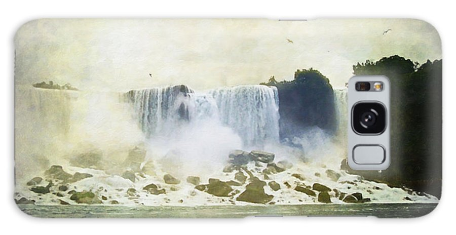 Niagara Falls Galaxy S8 Case featuring the digital art Mighty Niagara by Lianne Schneider