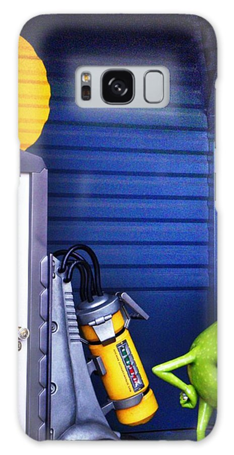 Disneyland Galaxy S8 Case featuring the photograph Mike With Boo's Door - Monsters Inc. In Disneyland Paris by Marianna Mills