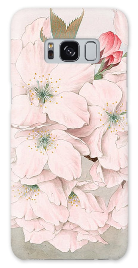 Japan Galaxy S8 Case featuring the painting Mikuruma-gaeshi - Vintage Japanese Watercolor by Just Eclectic