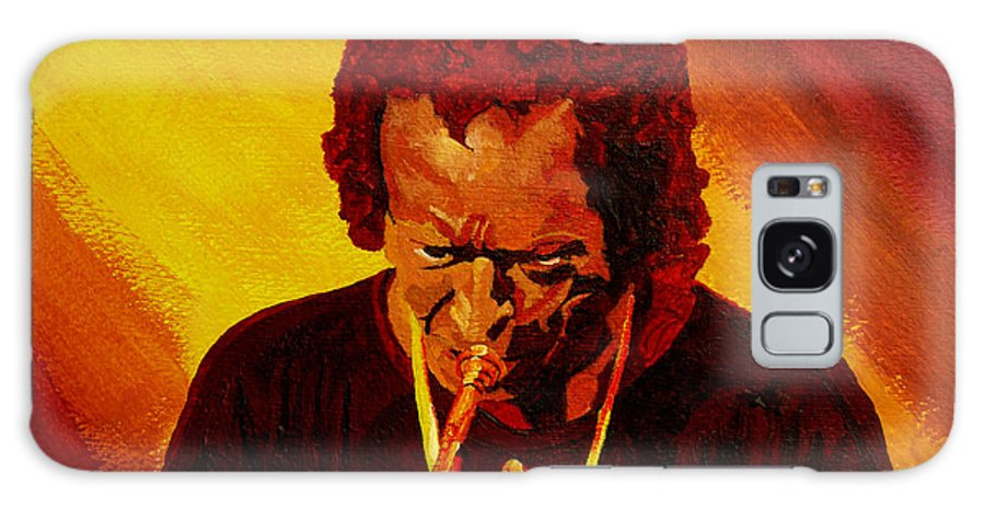 Miles Davis Galaxy Case featuring the painting Miles Davis Jazz Man by Anthony Dunphy