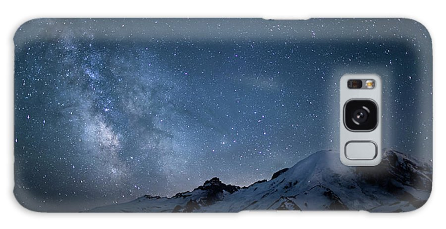 Scenics Galaxy Case featuring the photograph Milky Way Over Mount Rainier by Ed Leckert
