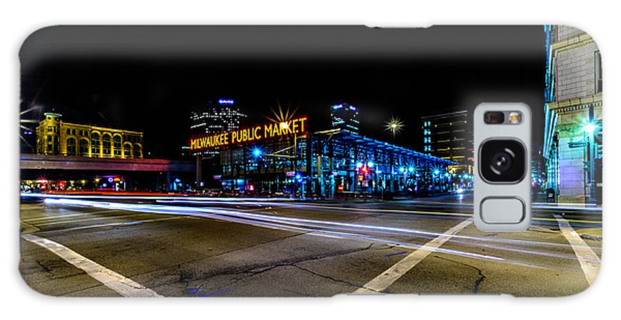Downtown Galaxy S8 Case featuring the photograph Milwaukee Public Market by Randy Scherkenbach
