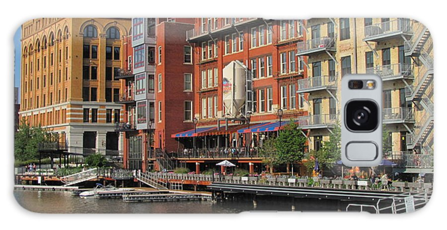 Milwaukee Galaxy S8 Case featuring the photograph Milwaukee River Architecture 4 by Anita Burgermeister
