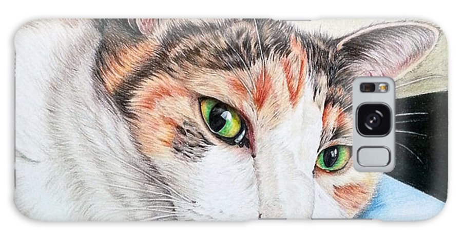 Pet Portrait Galaxy S8 Case featuring the drawing Mimi by Noriko DeWitt