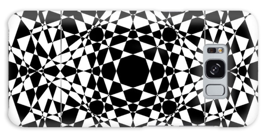 Abstract Galaxy S8 Case featuring the digital art B W Sq 2 by Mike McGlothlen