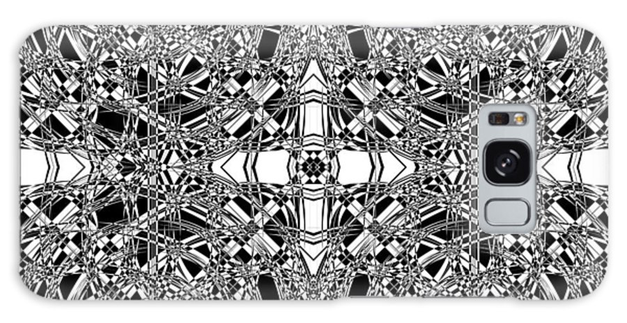 Abstract Galaxy S8 Case featuring the digital art B W Sq 5 by Mike McGlothlen