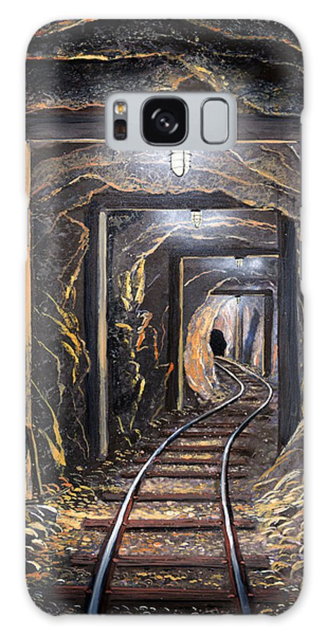 Mural Galaxy S8 Case featuring the painting Mine Shaft Mural by Frank Wilson