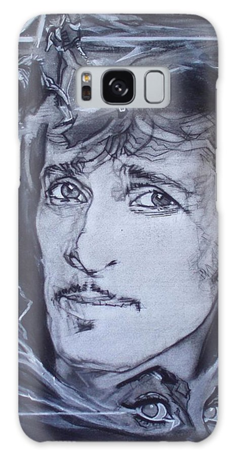 Charcoal;mink Deville;new York City;gina Lollabrigida Eyes ;cat Eyes;bullfight;toreador;swords;death;smoke;blues Galaxy S8 Case featuring the drawing Willy Deville - Coup De Grace by Sean Connolly