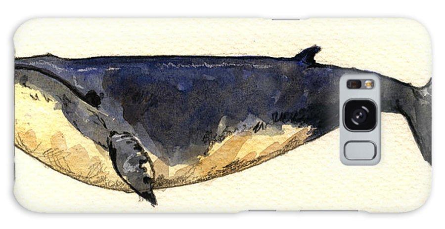 Minke Galaxy S8 Case featuring the painting Minke Whale by Juan Bosco